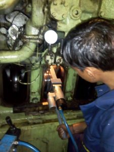 Crankshaft Grinding After Metal Stitching