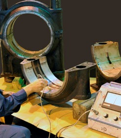 Inspection of White Metal Bearing