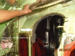 Broken Area of Engine Block of Daihatsu 6DK20