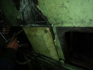 Broken Engine Block Repaired After Metal Stitching, Metal Locking