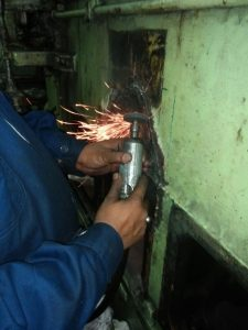 Repair of Crack Casting is in Process
