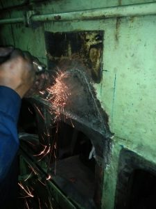 Repair of Crack Steel Casting is in Final Stage