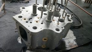 Cylinder Head of MAK 601C After Short Blasting