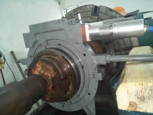 Crankshaft Grinding Machine is in Operation While Training