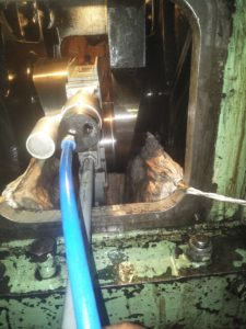 Grinding of Crankshaft by Crankshaft Grinding Machine on Vessel