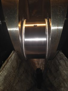 Crankpin After Grinding and Polishing by Crankshaft Grinding Machine