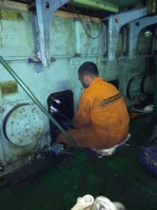 Onsite Grinding of Crankshaft While Vessel is Sailing