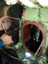 Damged engine repair by metal locking process