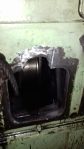 Repair of Damaged Window of engine block