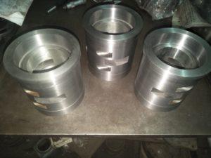 White Metal Bearings after Machining